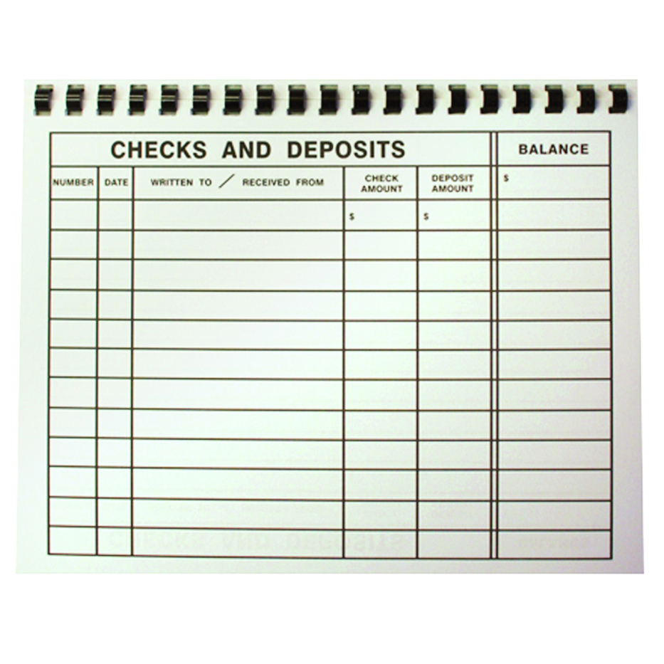 Large Print 8 x 11 Check Register Vision Forward – Check Register